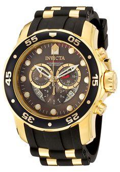 Invicta Men's Pro Diver Chronograph Two-Tone Strap Gunmetal Dial - Watch ILE6981A,    #Invicta,    #ILE6981A,    #WatchesDiverQuartz