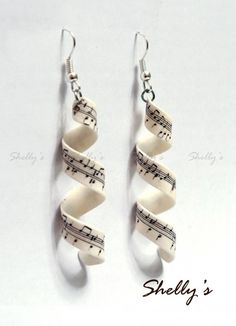 music earrings. Cleft note, sharp note?