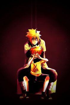 Namikaze Minato and Uzumaki Naruto Naruto And Hinata, Naruto Kakashi, Anime Naruto, Uzumaki Family, Naruto Family, Naruto Gaiden, Naruto Shippuden, Ninja, Naruto Fan Art