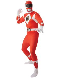 Adult Red Power Ranger 2nd Skin Costume