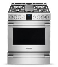 Frigidaire Professional 30'' Gas Front Control Freestanding Stainless Steel-FPGH3077RF - want this for the kitchen