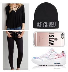 """""""Untitled #493"""" by kate-logic ❤ liked on Polyvore featuring American Eagle Outfitters, NIKE, Vans and Casetify"""