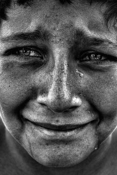 I really like how closely this photo shows this person's face, and how you can see the individual tears. I also like how this photo is in black and white as it makes is more powerful. We could use a photo like this for a cover or indepth about an emotional topic.  Hannah Menchel