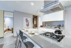 Vista96 Kitchen Island, Table, Furniture, Home Decor, One Room Apartment, Home Theater Design, Apartments, Island Kitchen, Decoration Home
