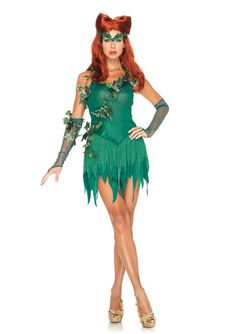 Leg Avenue Poison Ivy Inspired Costume : Get It On Fancy Dress Superstore, Fancy Dress  Accessories For The Whole Family. http://www.getiton-fancydress.co.uk/tvmusicfilm/superheros/batmanrobin/legavenuepoisonivyinspiredcostume#.UuuhI_sry10