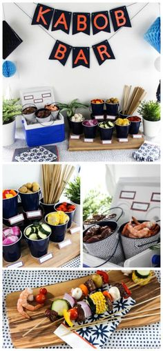 DIY Shish Kabob Bar!