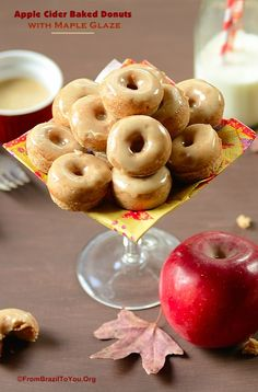 GUILT-FREE Apple Cider BAKED Donuts with Maple Glaze... So delicious and easy to make!