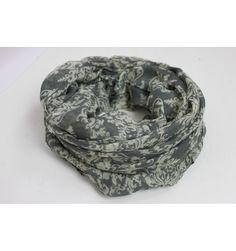 Damask Grey Scarf - The Scarves Company