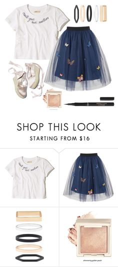 """butterfly and sunshine"" by magpie3939 ❤ liked on Polyvore featuring Hollister Co., George J. Love, Accessorize and L'Oréal Paris"