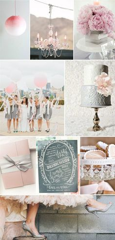 metallic color inspiration elegant pink silver gray wedding ideas for spring