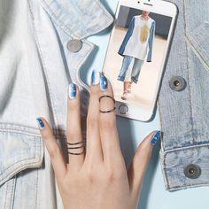 Nail Unistella by EK . Lab - [#유니스텔라트렌드]  #데님네일 #그라데이션네일  #유니스텔라 #네일디자이너... Korean Nail Art, Korean Nails, Polish, Uni, Nailart, Inspiration, Biblical Inspiration, Vitreous Enamel, Nail