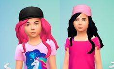 The Sims 4 | My Stuff: Long Wavy Hairstyle for girls | base game hairs converted for female child