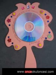 cd mirror craft idea for kids with template Cd Crafts, Diy And Crafts, Arts And Crafts, Diy For Kids, Crafts For Kids, Children Crafts, Colegio Ideas, Recycled Cds, Princess Crafts