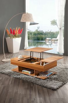 modern up and down lift top coffee table