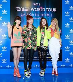 2NE1 140410 All Or Nothing x Adidas Press Con in Shanghai