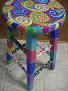 Funky Hand Painted Furniture | BuggyBean Custom Painted Designs shared BuggyBean Custom Painted ...