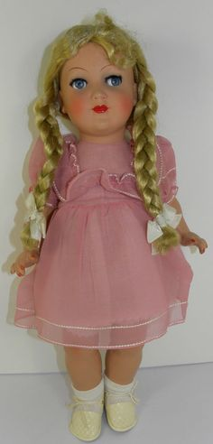 "Vintage 1950's  Schildkrot Doll  Turtle Mark  350/45  18""  Tall  Sideway eyes"