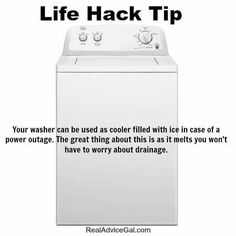 Use washer as a cooler during a power outage! | Posted By: SurvivalofthePrepped.com
