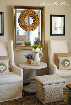 Dear Lillie: family room.....I really like this style