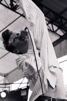 Morrissey: The Smiths at GLC 'Jobs For A Change' Festival at Jubilee Gardens, London on June 10, 1984.