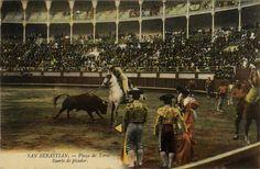 San Sebastián : plaza de toros : suerte de picador, 19--?