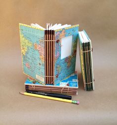 Compact Expandable Travel Journal with Custom Map  by UsefulBooks, $45.00