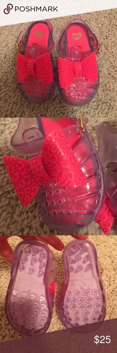 Mini Melissa Bow Jelly Shoes Girls sz 6 New! smells so good! My daughter never got to wear them! So cute! Toddler sz 6 Mini Melissa Shoes Sandals & Flip Flops