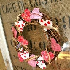 #papercraft #DIY #Valentine's Day #wreaths