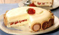 Torta holandesa de morango com chocolate -