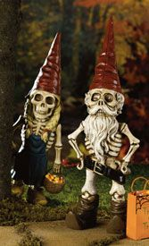 Skel-A-Gnomette Woman Garden Sculpture...would love these for halloween!