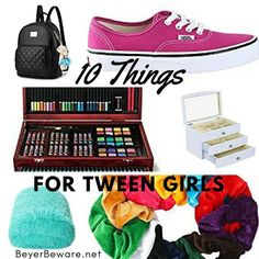 Here are 10 gifts for those 12 year old girls in all different price ranges. After all, we are all looking for things to buy for tween girls. Christmas Gifts For 10 Year Olds, Christmas Gifts For Teen Girls, Teenage Girl Gifts, Gifts For Girls, 11th Birthday, Girl Birthday, Birthday Ideas, 9 Year Old Girl, Birthday Presents For Girls