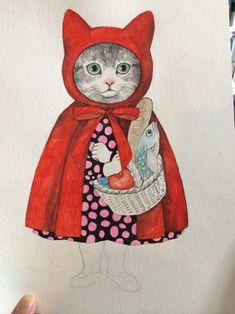 CatSprayStop - Keeping the Spray at Bay Fairytale Art, Cat People, Cat Drawing, Red Riding Hood, Crazy Cats, Cat Art, Illustrations Posters, Cats And Kittens, Dog Cat