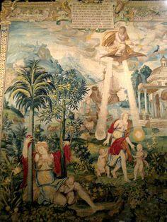 Chateau-Ecouen-L'HISTOIRE DE DIANE. Tissée dans les années 1550 par des ateliers parisiens en un exemplaire unique, cette tenture d'exception était destinée à orner les intérieurs du château d'Anet, propriété de la favorite du roi, Diane de Poitiers. Encore très récemment, ces deux tapisseries étaient totalement inédites: seules 8 tapisseries de ce remarquable ensemble étaient connues.