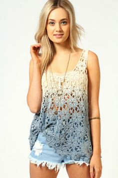 ombre crochet top #boho  Get 7% Cash Back http://www.studentrate.com/all/get-all-student-deals/Boohoo-com-Student-Discounts--/0