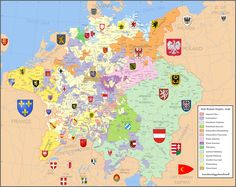 Map: (1648))The Holy Roman Empire, after the Peace of Westphalia, which ended the Thirty Years' War