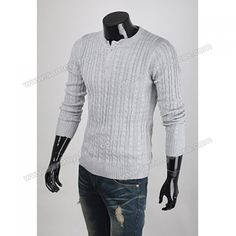 Casual Scoop Neck with Buttons Grey Cardigan