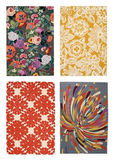 Bright & beautiful rugs from Anthropologie. Give me now pls.