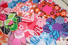 hexagon print patchwork