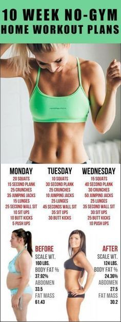 10 WEEK NO-GYM HOME WORKOUT PLANS #health #fitness #workout #gym #beauty #diy
