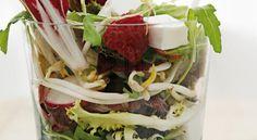 Recetas saludables: Ensalada de pollo, frambuesas y requesón | Adelgazar – Bajar de Peso