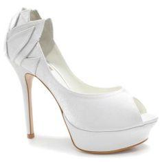 Sapato Laura Porto Peep Toe MT 9382 (Noiva)
