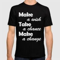 a wish Black MEDIUM Mens Fitted Tee