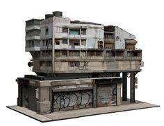 Polycount Forum - View Single Post - What Are You Working On? 2013 Edition -good one! Cyberpunk City, Arte Cyberpunk, Futuristic City, Crea Design, Bg Design, Game Design, Building Concept, Building Design, Environment Concept Art