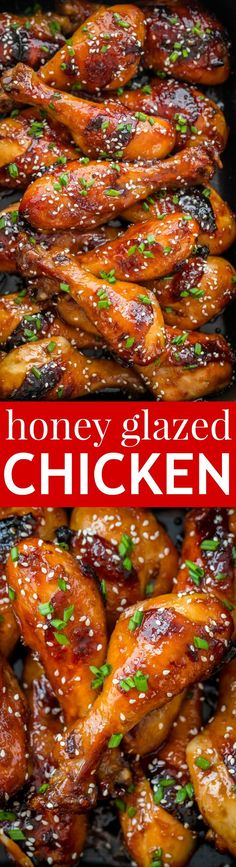 These baked honey glazed chicken drumsticks are finger-lickin' good! The honey-soy glaze makes these juicy chicken drumsticks so flavorful and irresistible   natashaskitchen.com