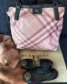 Burberry shopper canvas in pink
