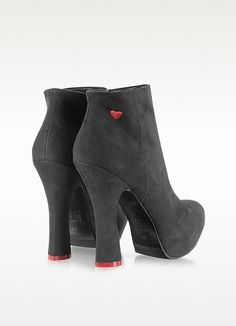 Moschino Black Eco Suede Platform Bootie https://www.facebook.com/pages/Fashion-Trends-and-Discounts/137797606390386