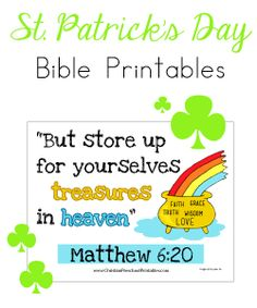 St. Patrick's Day Bible Verse for Kids