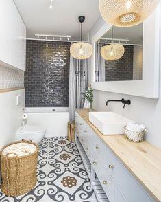 modern bathroom design for small bathroom House Design, Bathroom Styling, Bathroom Interior, Rustic Bathroom Decor, Modern Farmhouse Bathroom, Small Bathroom, Bathroom Decor, Narrow Bathroom, Bathroom Layout