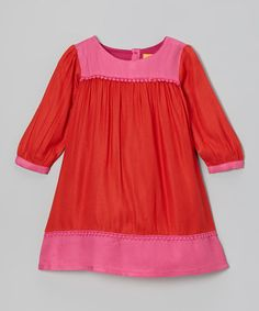 Take a look at this Red & Pink Anna Dress - Toddler & Girls by Ode on #zulily today!