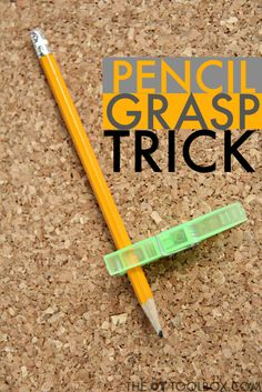 Kids can hold a clothespin clipped onto a pencil to help with pencil grasp and fine motor skills needed for improving handwriting and pencil grasp with this easy pencil grasp trick. Handwriting Activities, Improve Your Handwriting, Improve Handwriting, Nice Handwriting, Handwriting Practice, Teaching Handwriting, Fine Motor Activities For Kids, Motor Skills Activities, Fine Motor Skills